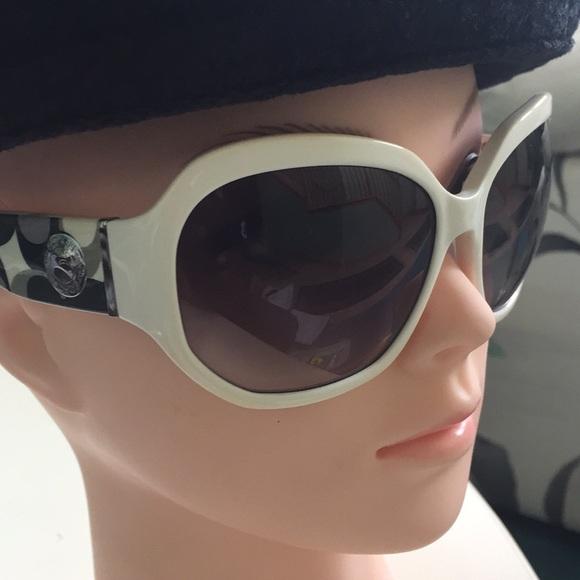 180108b337446 Coach Accessories - Coach Sunglasses Arabella white